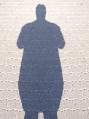 Image showing the shadow of a person